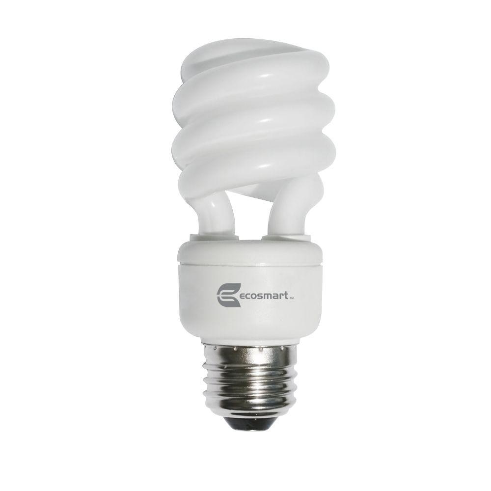 60W Equivalent Daylight (5500K) Shatter Resistant High CRI Spiral CFL Light Bulb