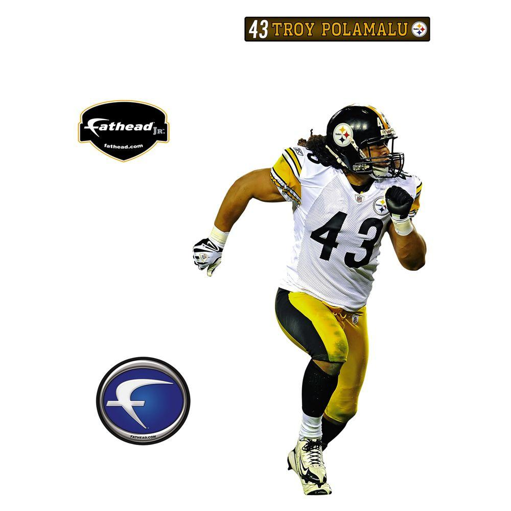 Fathead 20 in. x 32 in. Troy Polamalu Pittsburgh Steelers Wall Decal