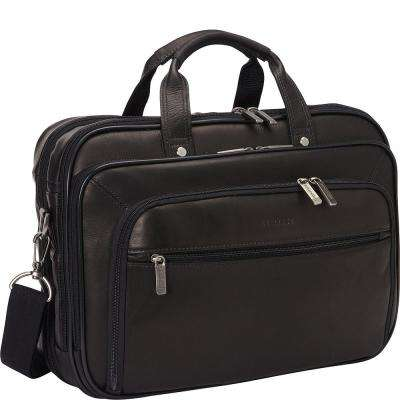 Colombian Leather 15.6 in. Double Compartment Top Zip Checkpoint Friendly Computer Portfolio / Business Case