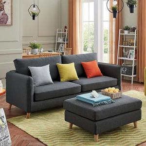Modern Accent Fabric Chair Single Sofa Comfy Upholstered Arm Chair Living  Room Furniture yellow
