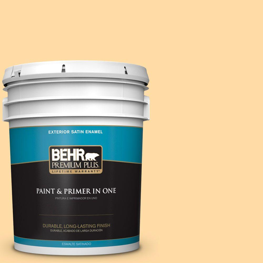 5-gal. #300A-3 Melted Butter Satin Enamel Exterior Paint