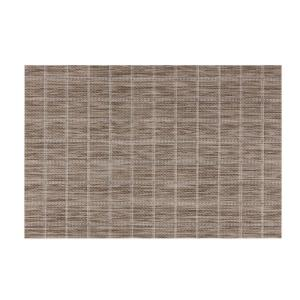 Kraftware EveryTable Taupe Check Placemat (Set of 12) by Kraftware