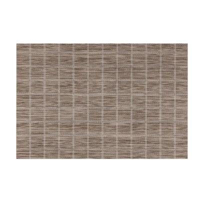 EveryTable Taupe Check Placemat (Set of 12)