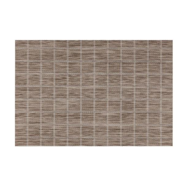 Kraftware EveryTable Taupe Check Placemat (Set of 12)