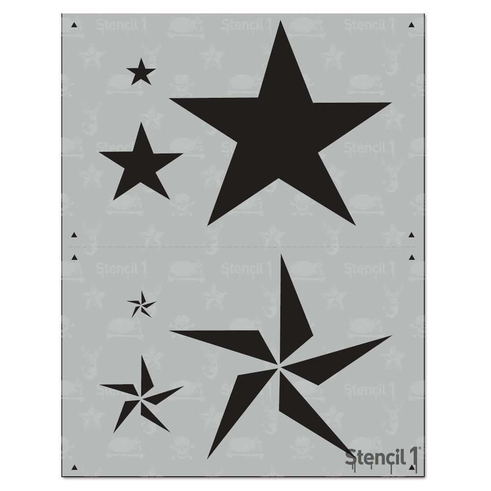 Stencils stars 87