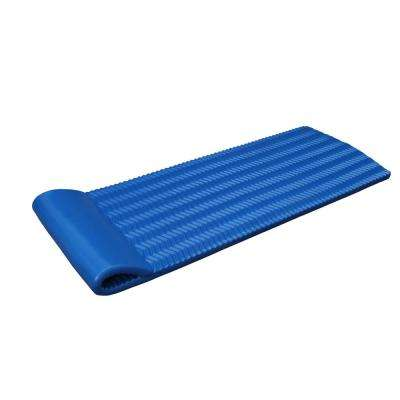 Blue Luxury Mat Lounge for Swimming Pools - NBR Foam Rubber Flotation Device