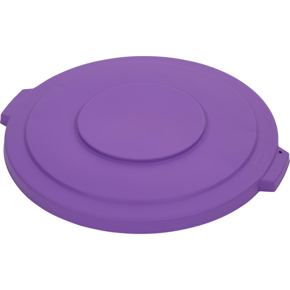 Bronco 44 Gal. Purple Round Trash Can Lid (3-Pack)