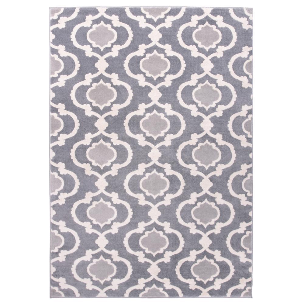 Moroccan Trellis Contemporary Dark Gray 9 X12 Indoor Area Rug