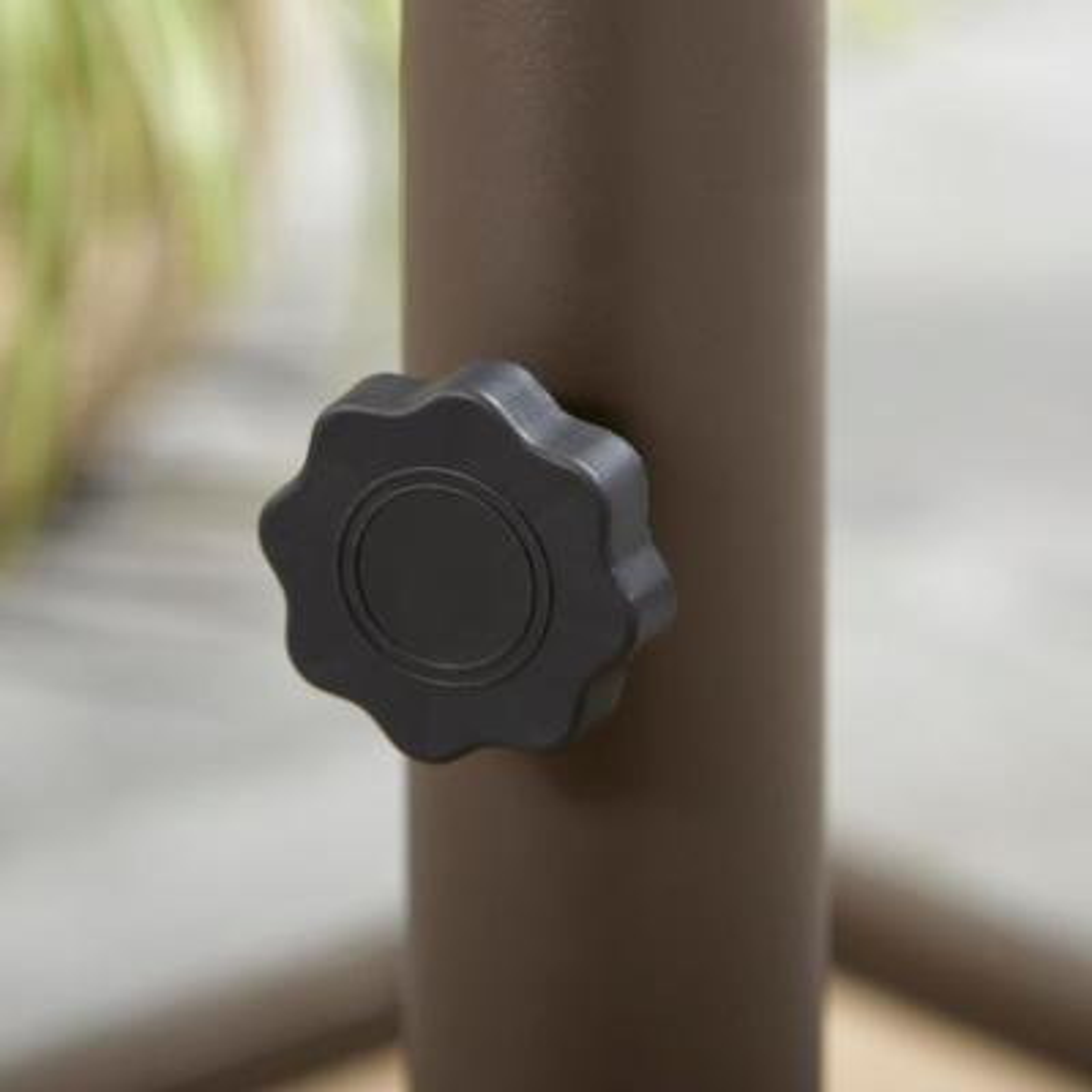 Steel Outdoor Patio Umbrella Base in Brown