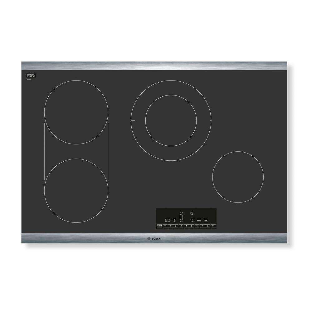 800 Series 30 in. Radiant Electric Cooktop in Black with Stainless