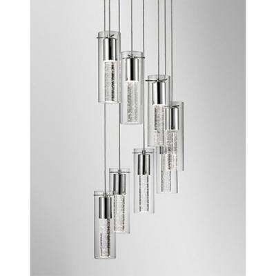 Kara 8-Light 60-Watt Equivalence Chrome Integrated LED Pendant