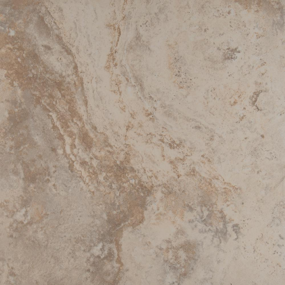 Msi piazza ivory 18 in x 18 in glazed porcelain floor and wall glazed porcelain floor and wall tile dailygadgetfo Gallery