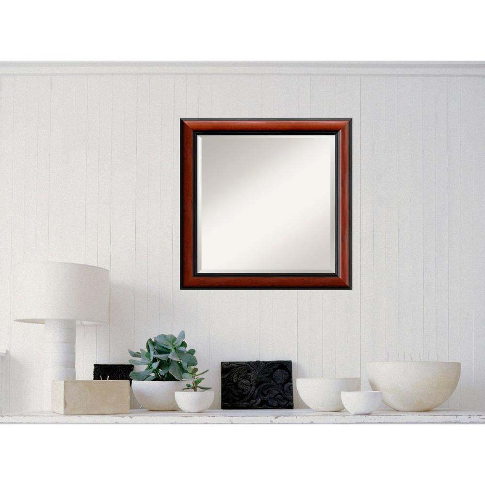 Regency Mahogany Wood 24 in. W x 24 in. H Traditional Framed Mirror