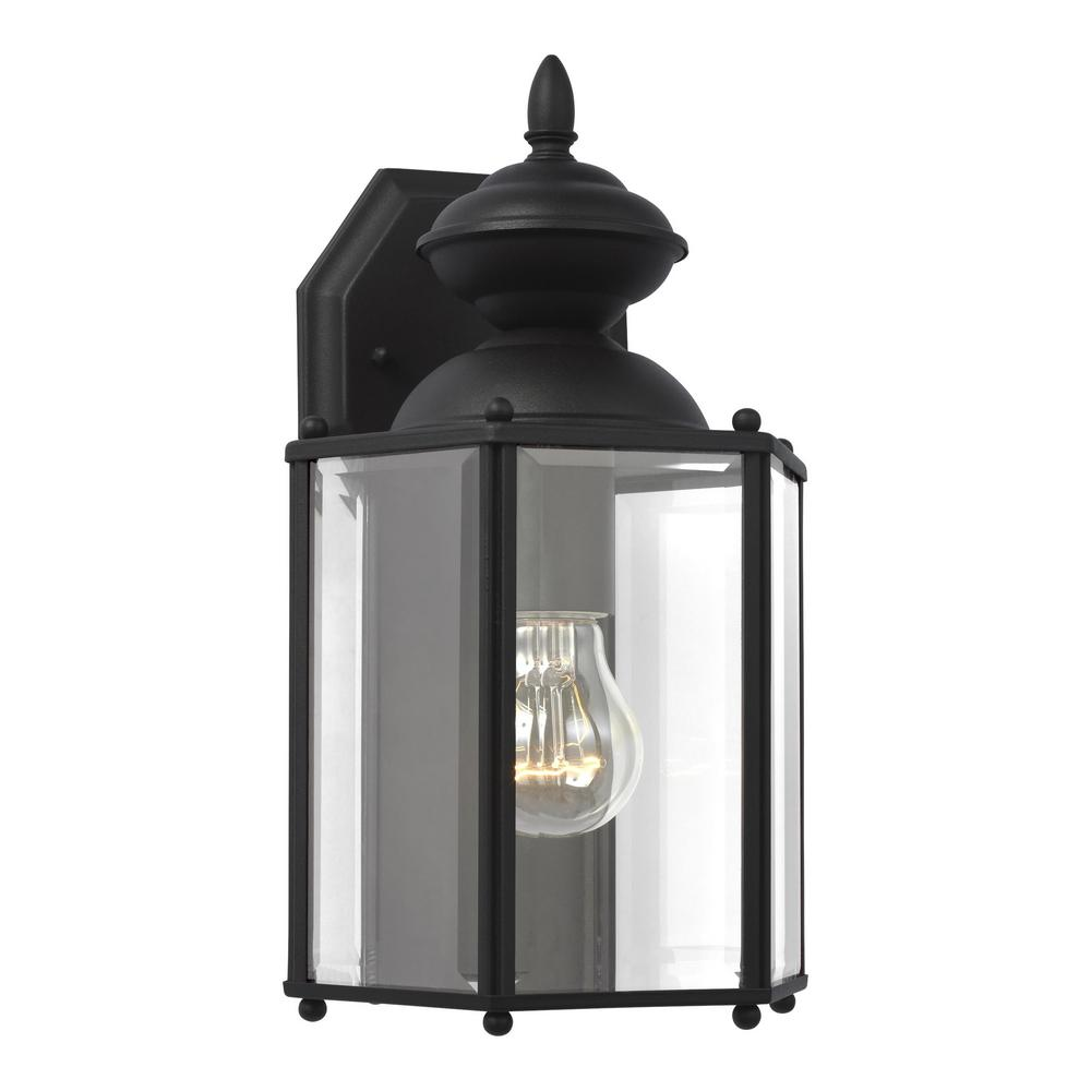Classico 1-Light Black Outdoor Wall Fixture