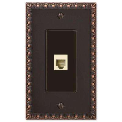 Egg and Dart 1 Phone Wall Plate - Oil-Rubbed Bronze