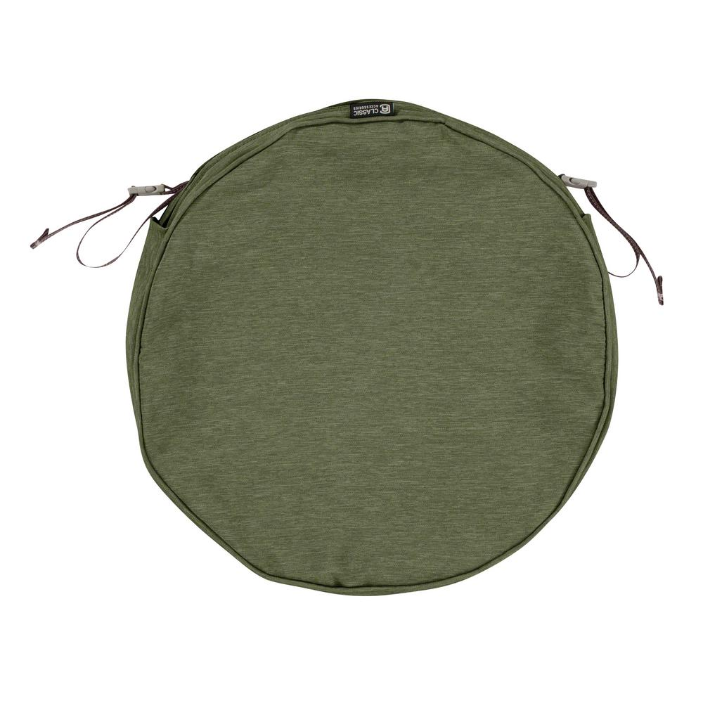 classic accessories montlake fade safe heather fern 15 in round outdoor seat cushion cover 60. Black Bedroom Furniture Sets. Home Design Ideas