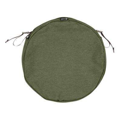 Montlake Fade Safe Heather Fern 15 in. Round Outdoor Seat Cushion Cover