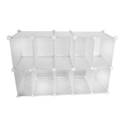 35 in. W x 22.25 in. H x 13.5 in. D Closet and Purse 10-Cube Modular Organizer
