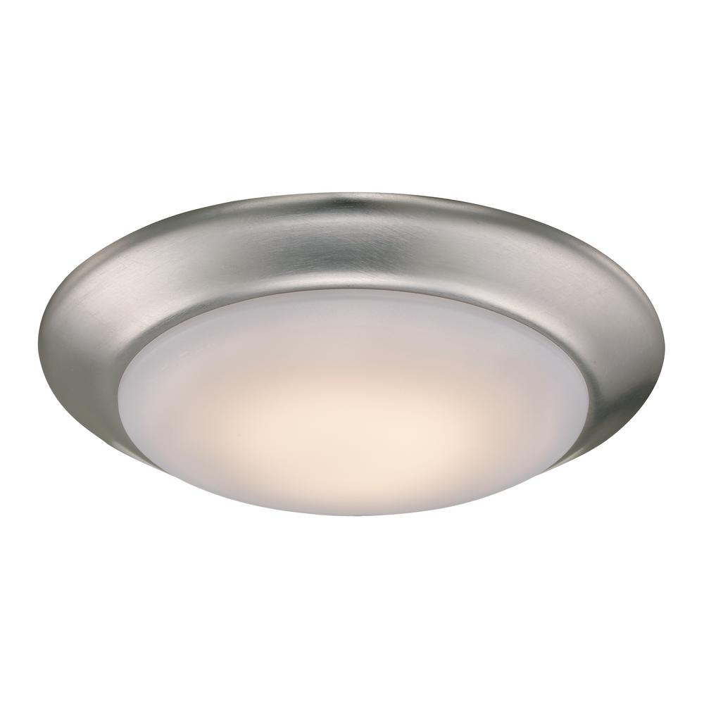 new products cf2d7 7480d Bel Air Lighting Vanowen 13-Watt Brushed Nickel Integrated LED Flush Mount