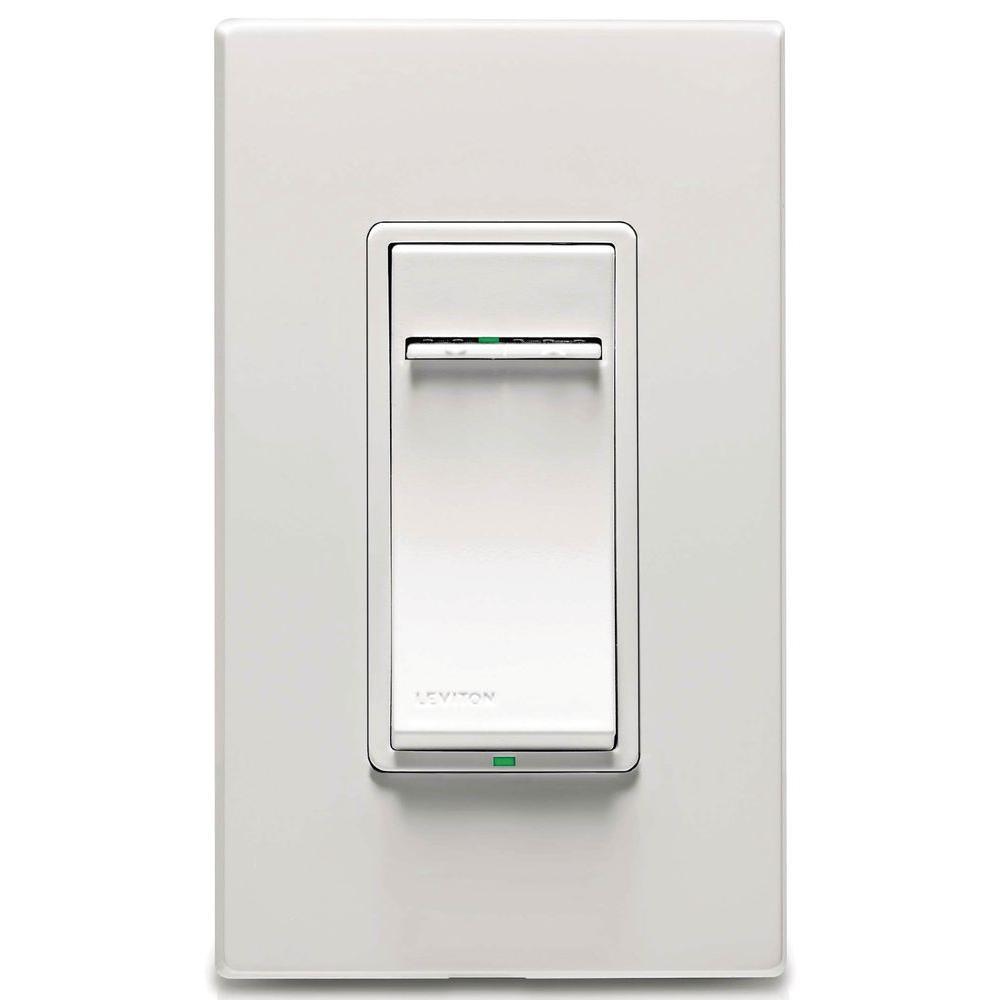 Vizia Plus 600-Watt Incandescent Dimmer with Wall Plate, White