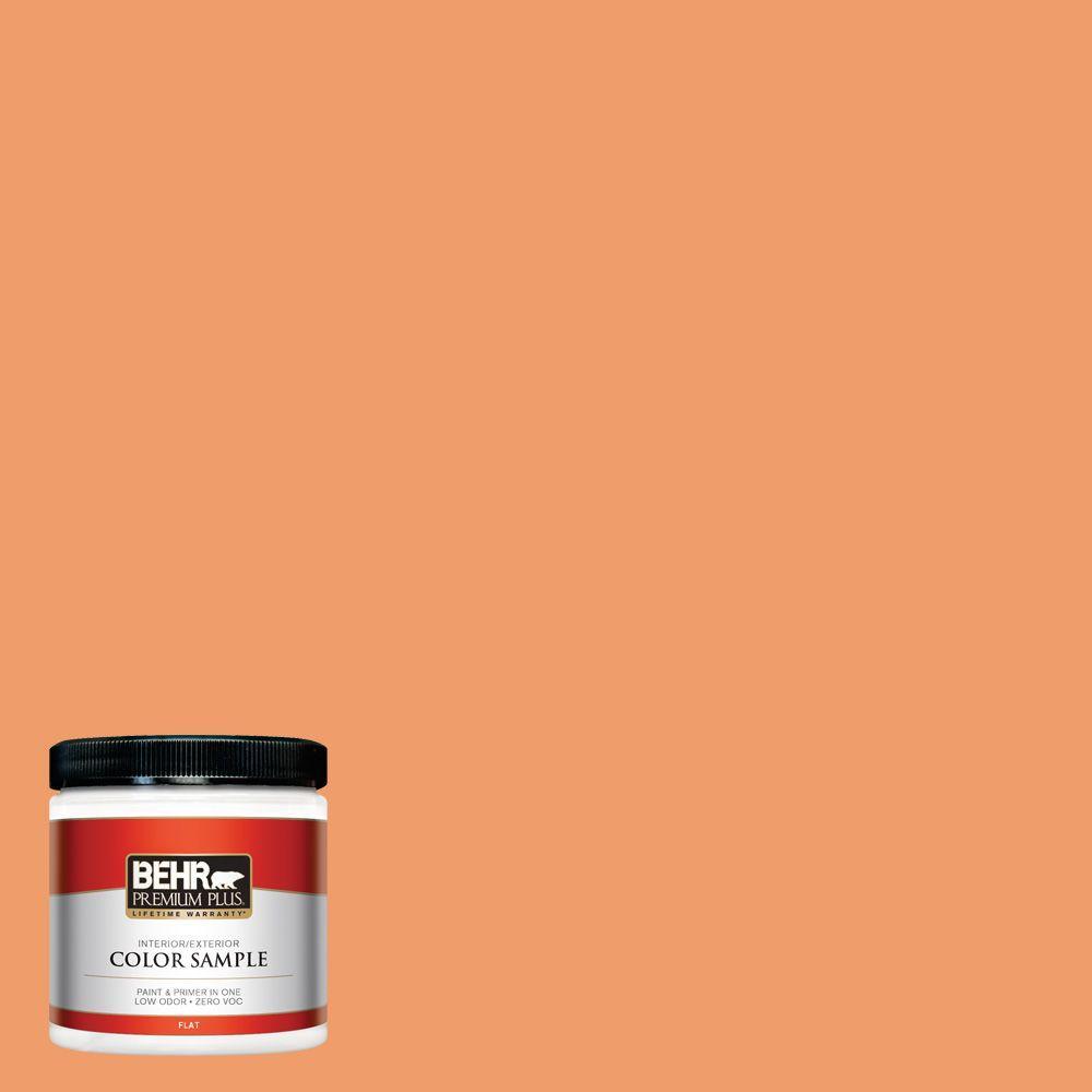 BEHR Premium Plus 8 oz. #250D-5 Florida Mango Interior/Exterior Paint Sample