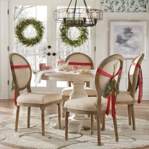 Home Decorators Collection Kingsley Sandblasted White Round ...