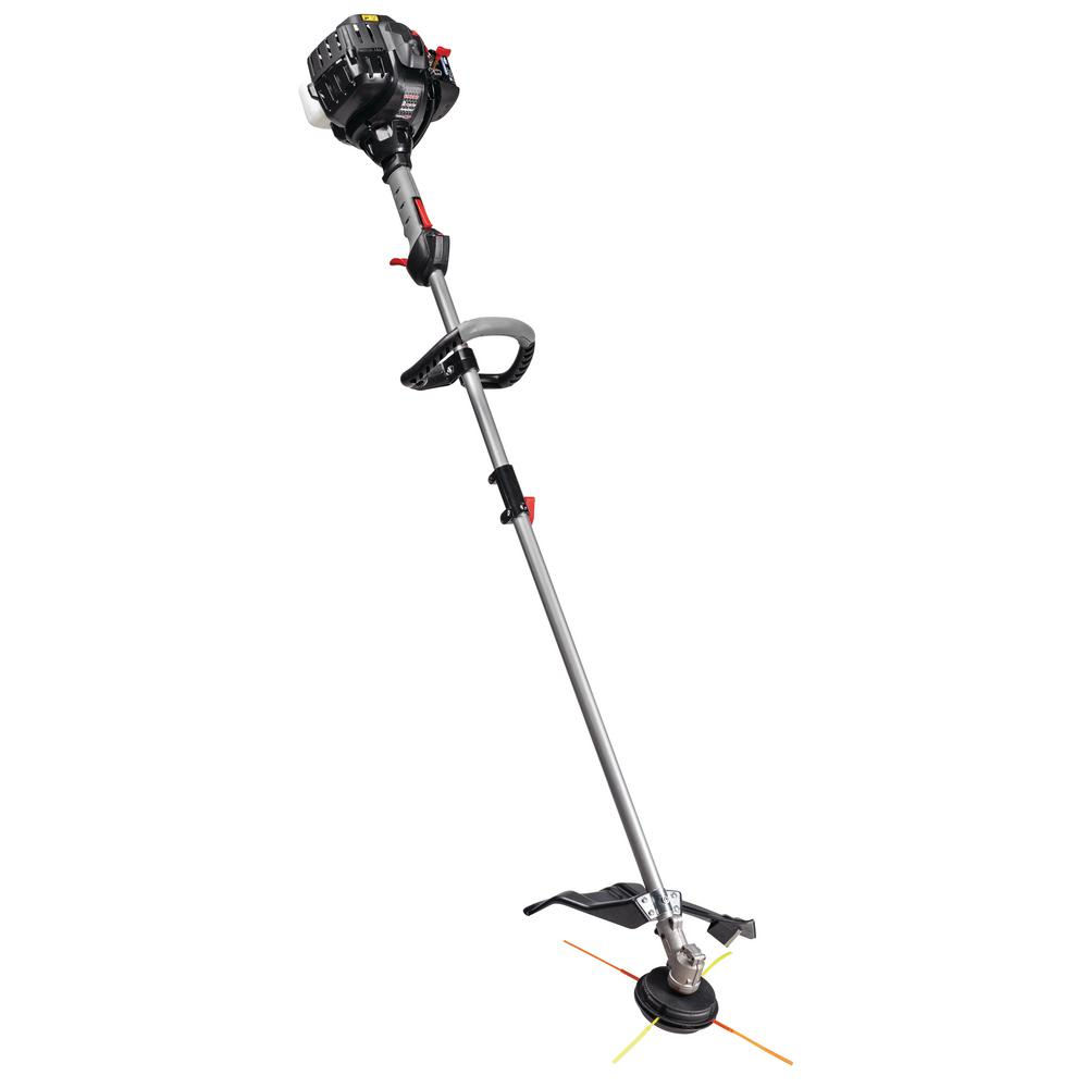 Troy-Bilt 27 cc 2-Cycle Straight Shaft Attachment Capable Gas Trimmer with  JumpStart Capabilities