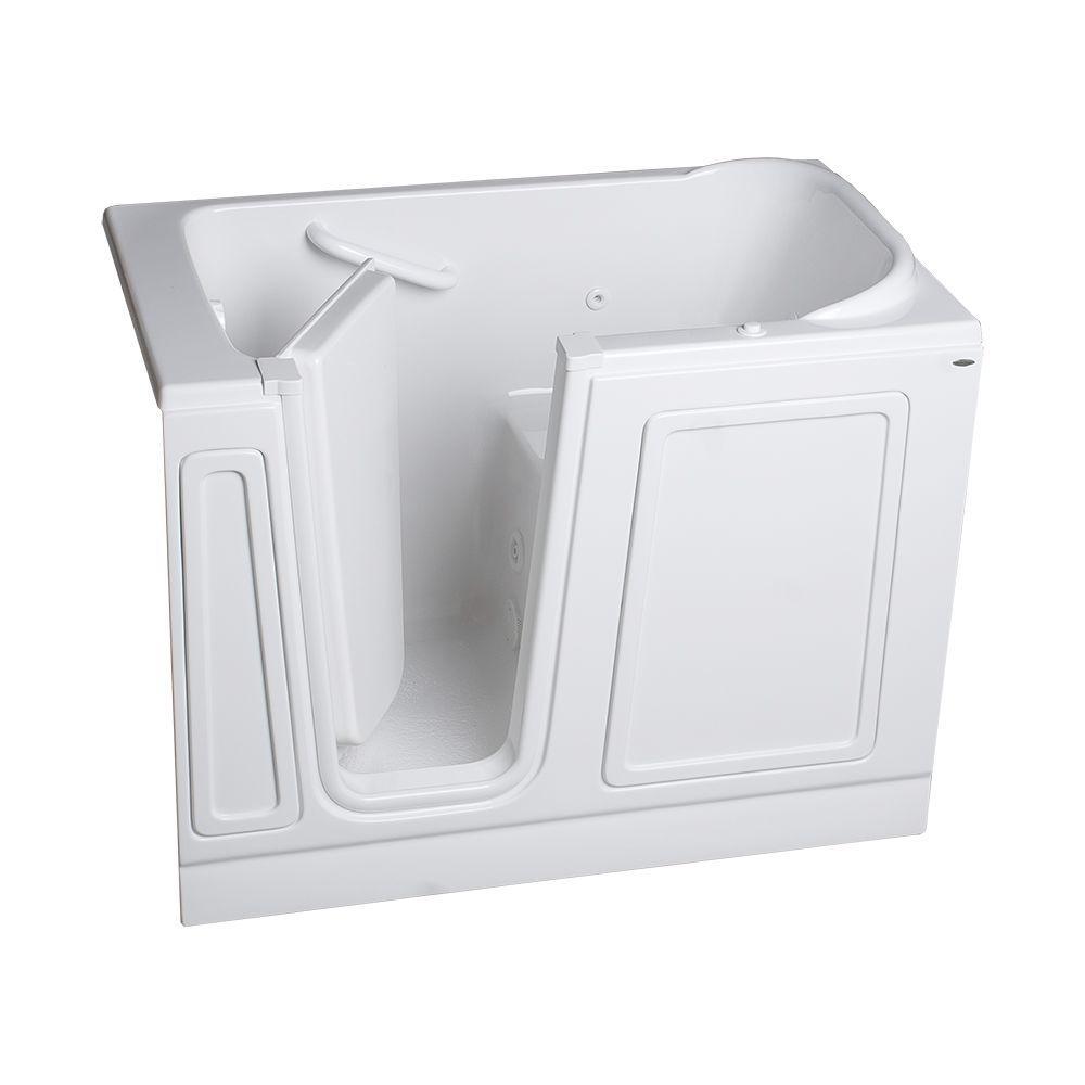 American Standard Acrylic Standard Series 51 in. x 26 in. Walk-In Whirlpool Tub in White