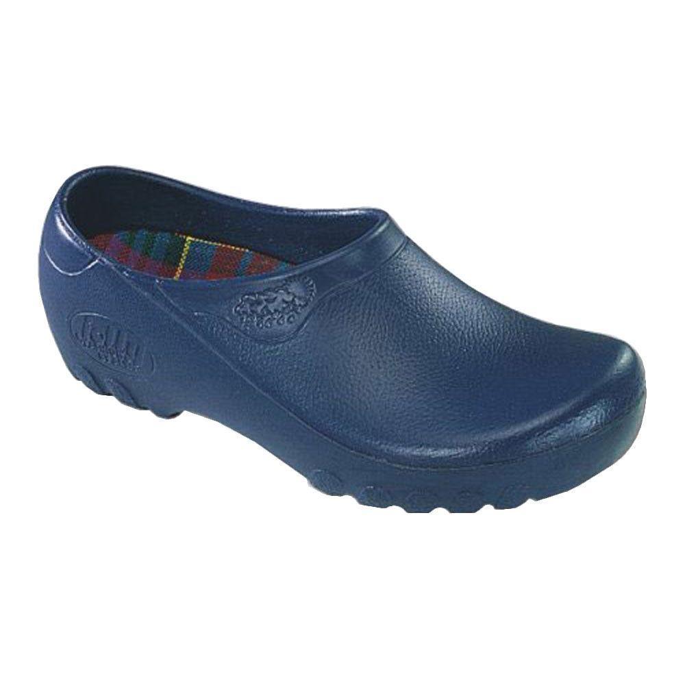 Men's Navy Blue Garden Shoes - Size 8