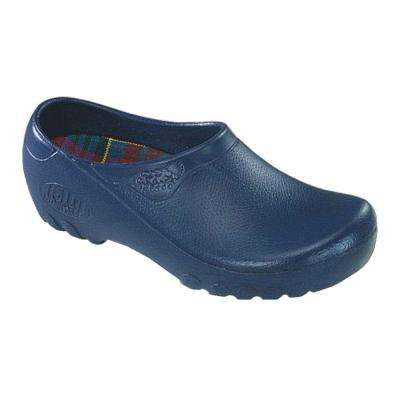 Men's Navy Blue Garden Shoes - Size 8