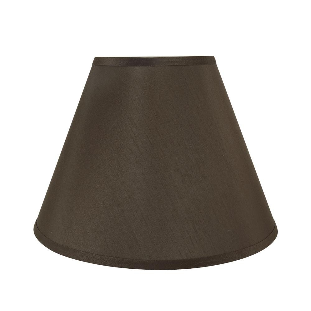c6ad0c13ef30 Aspen Creative Corporation. 15 in. x 11 in. Brown Hardback Empire Lamp Shade