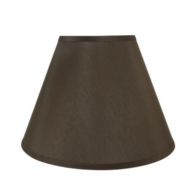 15 in. x 11 in. Brown Hardback Empire Lamp Shade