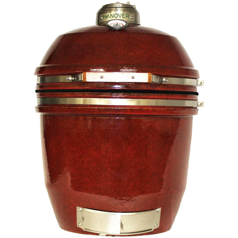 19 in. Ceramic Kamado Grill in Red
