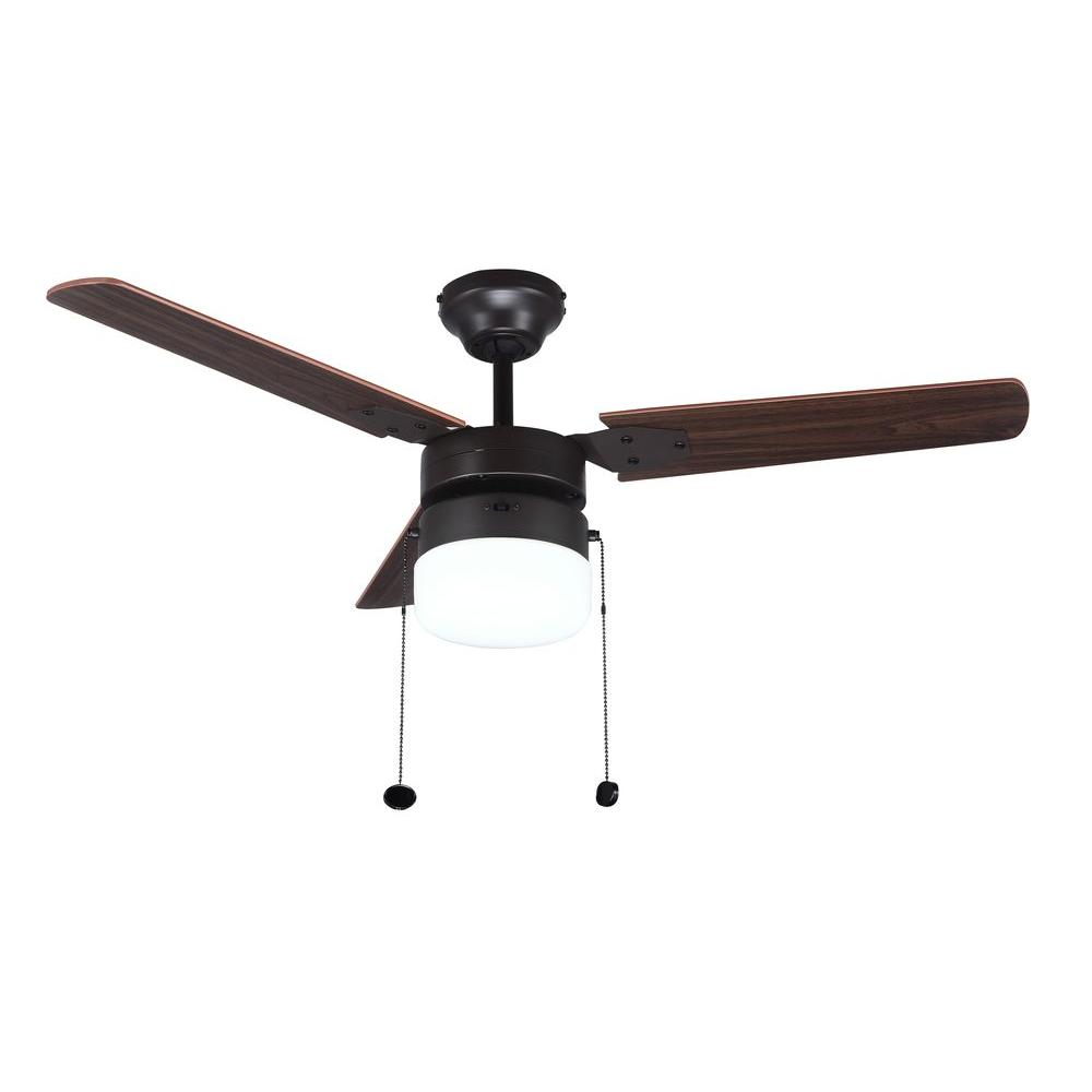 Montgomery 42 In Indoor Oil Rubbed Bronze Ceiling Fan With Light Kit
