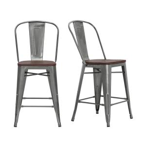 Fantastic Stylewell Finwick Gunmetal Gray Metal Counter Stool With Forskolin Free Trial Chair Design Images Forskolin Free Trialorg