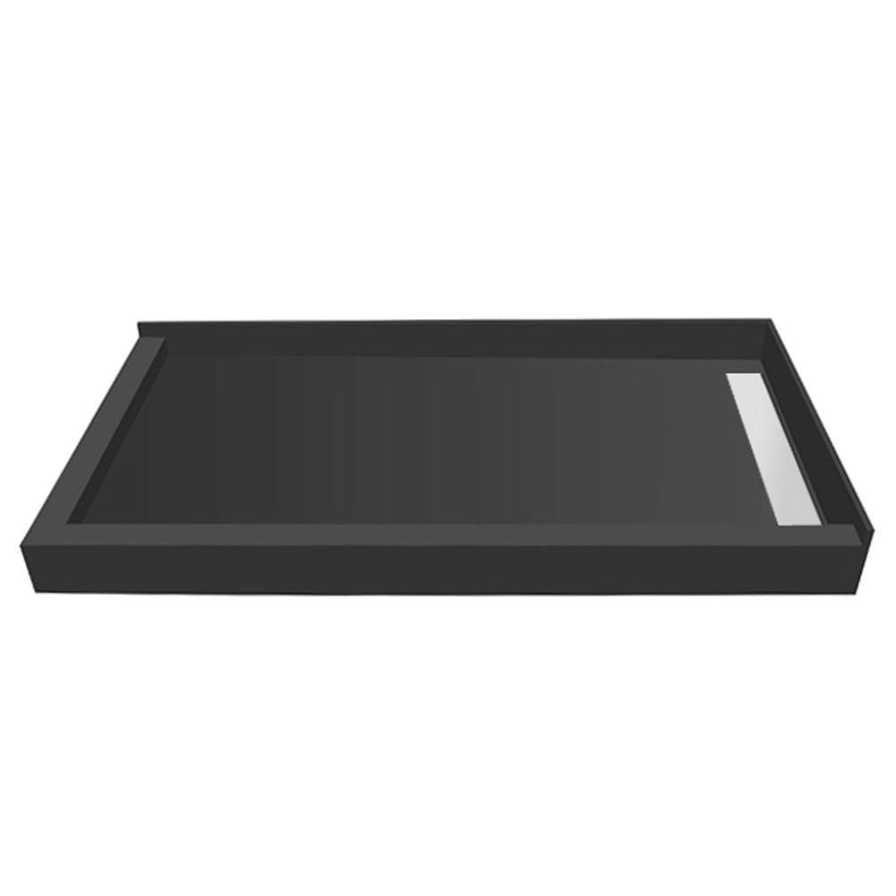 30 in. x 60 in. Double Threshold Shower Base with Right