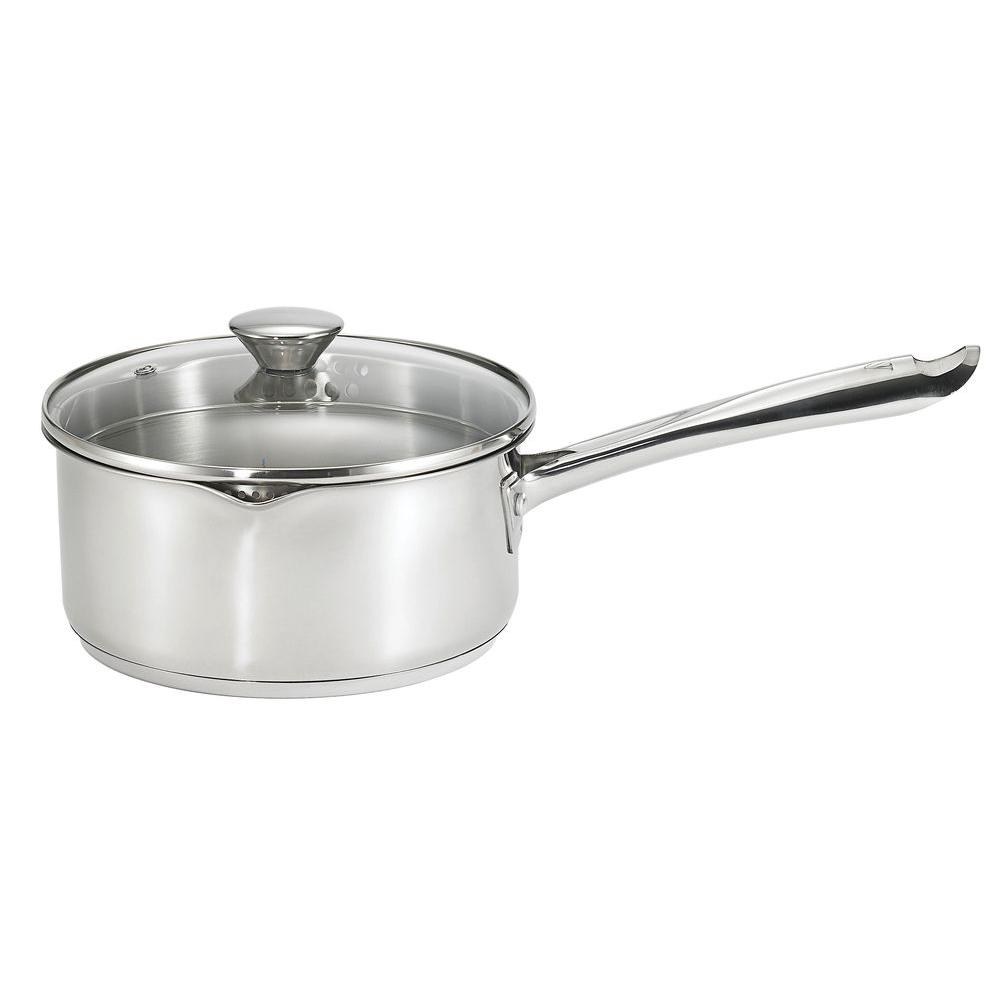 WearEver Cook and Strain 3 Qt. Stainless Steel Saucepan