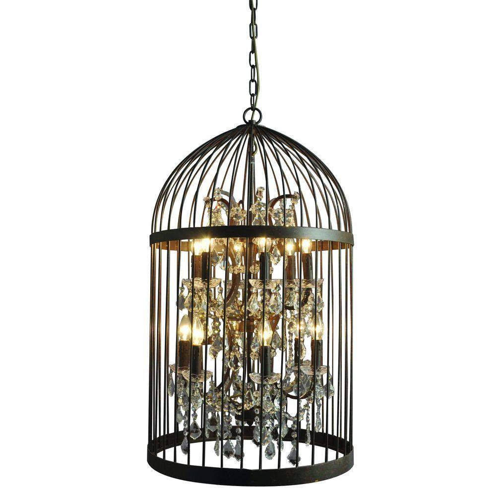Y decor hunter 12 light rustic black cage chandelier lz2079 6 6rr y decor hunter 12 light rustic black cage chandelier aloadofball Choice Image