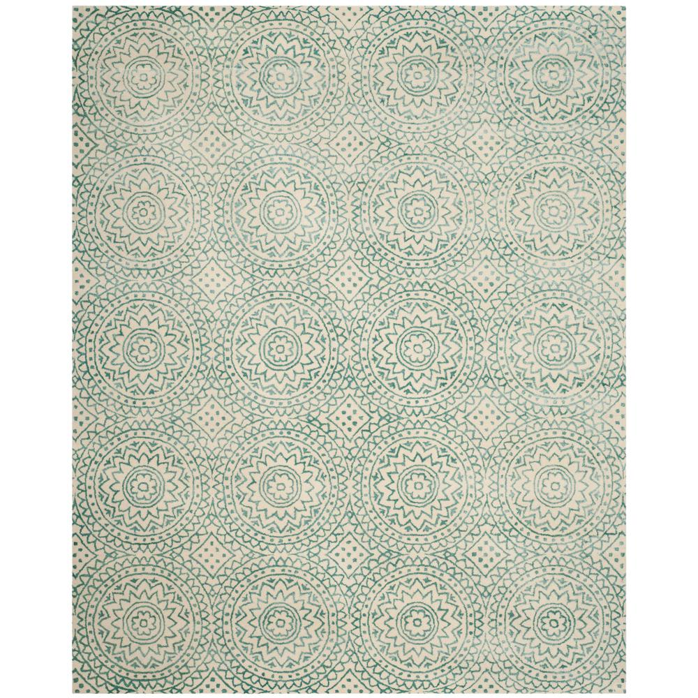 Bella Ivory/Blue 5 ft. x 8 ft. Area Rug