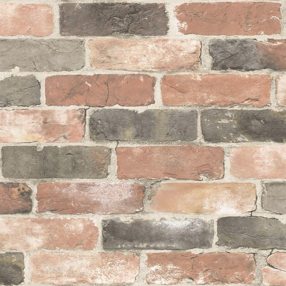 Newport Reclaimed Brick Peel and Stick Vinyl Strippable Wallpaper (Covers 30.75 sq. ft.)