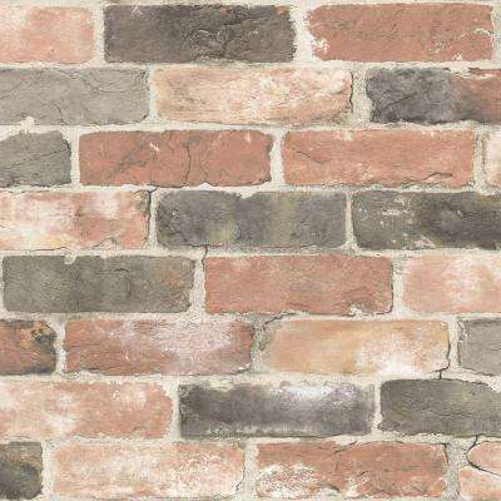Newport Reclaimed Brick Red Wallpaper Sample