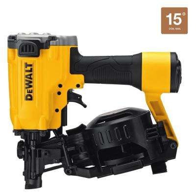 Pneumatic 15-Degree Coil Roofing Nailer