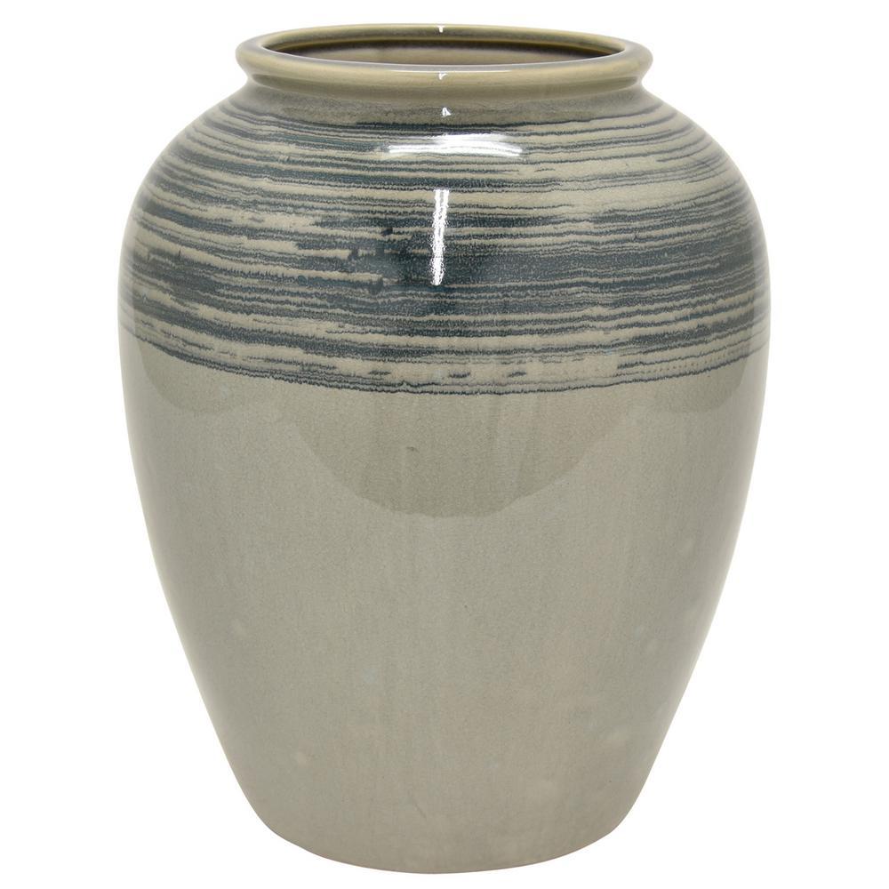 8 in. Gray Ceramic Vase