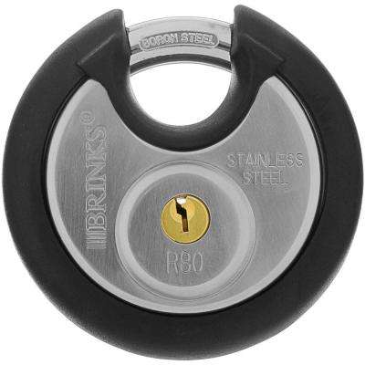 80 mm Stainless-Steel Commercial Discus Padlock