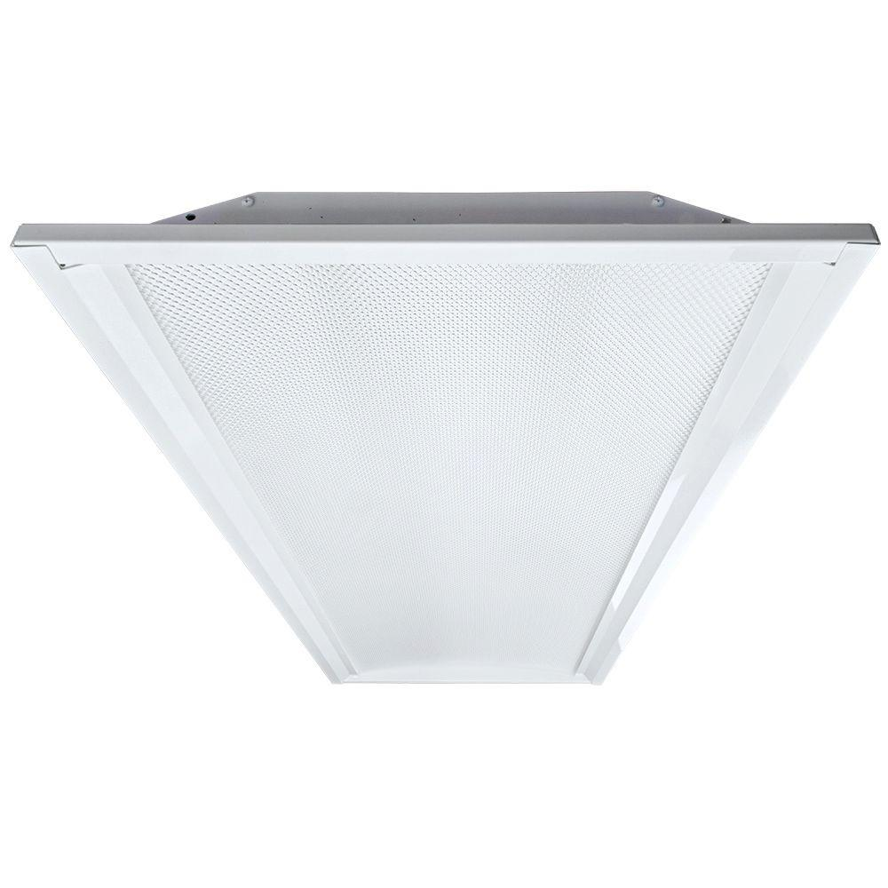 Eco Lighting by DSI 2 ft. x 4 ft. White Retrofit Recessed Troffer ...