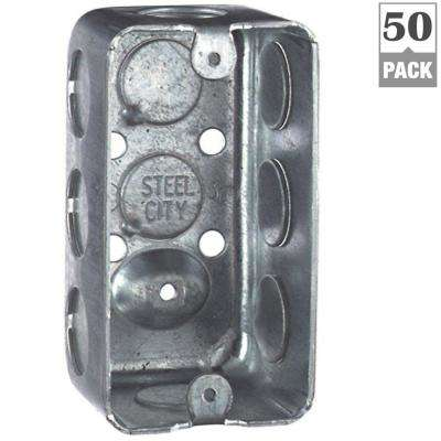 1-Gang 4 in. 1-7/8 in. Deep Old Work Handy/Utility Box (Case of 50)