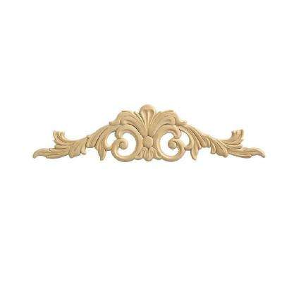 14020PK 9/32 in. x 22 in. x 5-3/8 in. Wood Birch Acanthus Center Ornament Moulding