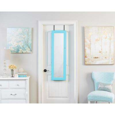 Turquoise Deluxe Mirrored Jewelry Armoire