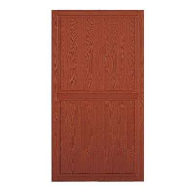 Solid Oak Double End Side Panel for 24 in. D Executive Wood Locker in Medium Oak