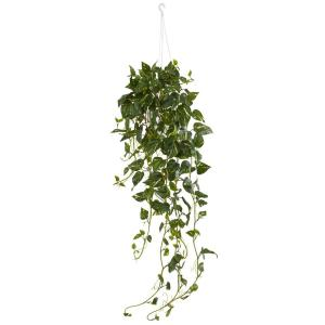 Nearly Natural Pothos Hanging Basket Artificial Plant by Nearly Natural
